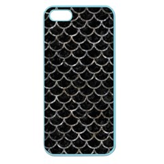 Scales1 Black Marble & Gray Stone Apple Seamless Iphone 5 Case (color)