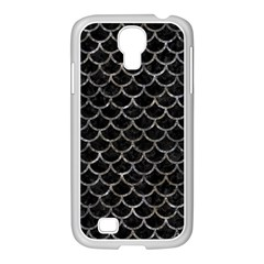 Scales1 Black Marble & Gray Stone Samsung Galaxy S4 I9500/ I9505 Case (white)