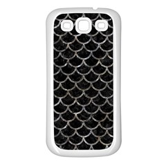 Scales1 Black Marble & Gray Stone Samsung Galaxy S3 Back Case (white)