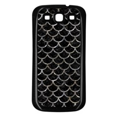 Scales1 Black Marble & Gray Stone Samsung Galaxy S3 Back Case (black)