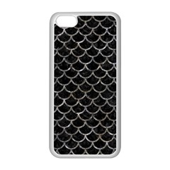 Scales1 Black Marble & Gray Stone Apple Iphone 5c Seamless Case (white)