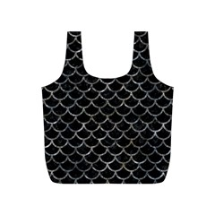 Scales1 Black Marble & Gray Stone Full Print Recycle Bags (s)