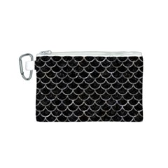 Scales1 Black Marble & Gray Stone Canvas Cosmetic Bag (s)