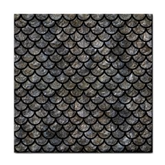 Scales1 Black Marble & Gray Stone (r) Tile Coasters