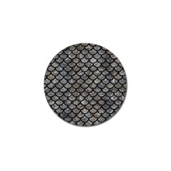Scales1 Black Marble & Gray Stone (r) Golf Ball Marker