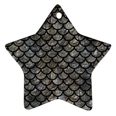 Scales1 Black Marble & Gray Stone (r) Star Ornament (two Sides)