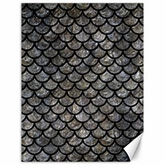 Scales1 Black Marble & Gray Stone (r) Canvas 12  X 16