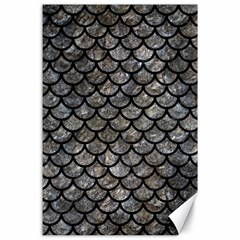 Scales1 Black Marble & Gray Stone (r) Canvas 24  X 36