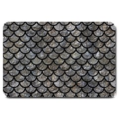 Scales1 Black Marble & Gray Stone (r) Large Doormat