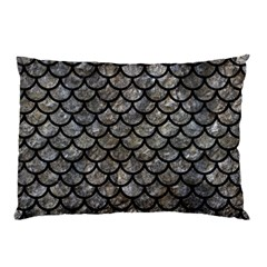 Scales1 Black Marble & Gray Stone (r) Pillow Case