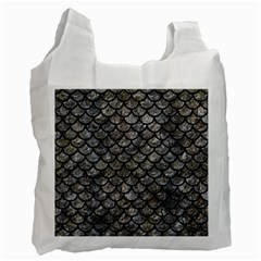 Scales1 Black Marble & Gray Stone (r) Recycle Bag (two Side)