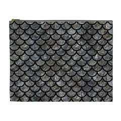 Scales1 Black Marble & Gray Stone (r) Cosmetic Bag (xl)