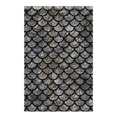 Scales1 Black Marble & Gray Stone (r) Shower Curtain 48  X 72  (small)