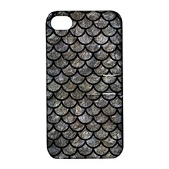 Scales1 Black Marble & Gray Stone (r) Apple Iphone 4/4s Hardshell Case With Stand