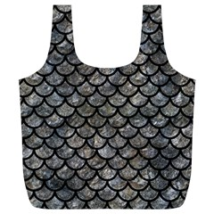 Scales1 Black Marble & Gray Stone (r) Full Print Recycle Bags (l)