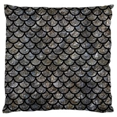 Scales1 Black Marble & Gray Stone (r) Large Flano Cushion Case (two Sides)