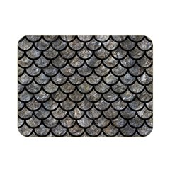 Scales1 Black Marble & Gray Stone (r) Double Sided Flano Blanket (mini)