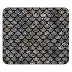 Scales1 Black Marble & Gray Stone (r) Double Sided Flano Blanket (small)