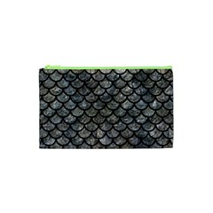 Scales1 Black Marble & Gray Stone (r) Cosmetic Bag (xs)