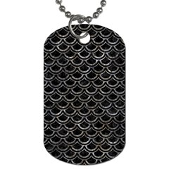 Scales2 Black Marble & Gray Stone Dog Tag (two Sides)
