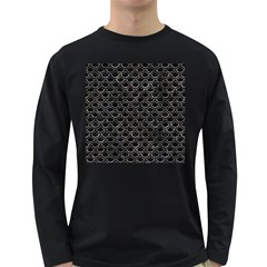 Scales2 Black Marble & Gray Stone Long Sleeve Dark T Shirts