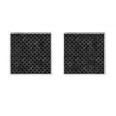 Scales2 Black Marble & Gray Stone Cufflinks (square)