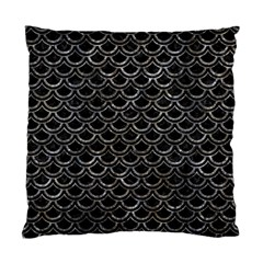 Scales2 Black Marble & Gray Stone Standard Cushion Case (two Sides)