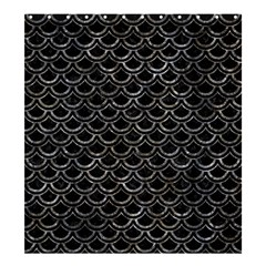 Scales2 Black Marble & Gray Stone Shower Curtain 66  X 72  (large)