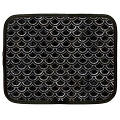 Scales2 Black Marble & Gray Stone Netbook Case (xxl)