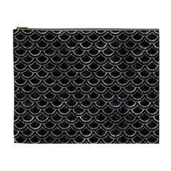 Scales2 Black Marble & Gray Stone Cosmetic Bag (xl)