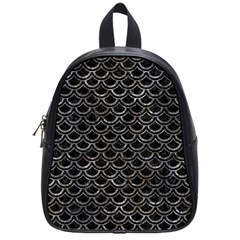 Scales2 Black Marble & Gray Stone School Bag (small)