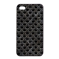 Scales2 Black Marble & Gray Stone Apple Iphone 4/4s Seamless Case (black)