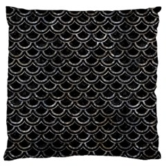 Scales2 Black Marble & Gray Stone Large Cushion Case (one Side)