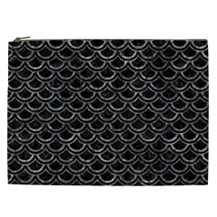 Scales2 Black Marble & Gray Stone Cosmetic Bag (xxl)