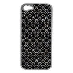 Scales2 Black Marble & Gray Stone Apple Iphone 5 Case (silver)