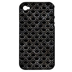 Scales2 Black Marble & Gray Stone Apple Iphone 4/4s Hardshell Case (pc+silicone)