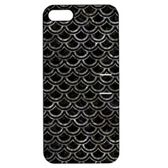 Scales2 Black Marble & Gray Stone Apple Iphone 5 Hardshell Case With Stand
