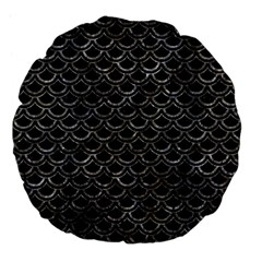 Scales2 Black Marble & Gray Stone Large 18  Premium Flano Round Cushions