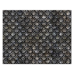 Scales2 Black Marble & Gray Stone (r) Rectangular Jigsaw Puzzl