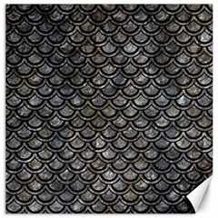 Scales2 Black Marble & Gray Stone (r) Canvas 20  X 20