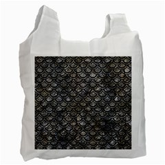 Scales2 Black Marble & Gray Stone (r) Recycle Bag (two Side)
