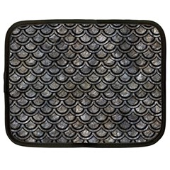 Scales2 Black Marble & Gray Stone (r) Netbook Case (xxl)