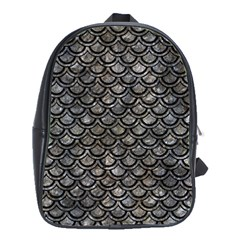 Scales2 Black Marble & Gray Stone (r) School Bag (large)