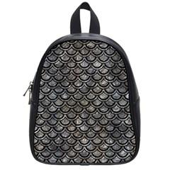 Scales2 Black Marble & Gray Stone (r) School Bag (small)