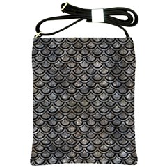Scales2 Black Marble & Gray Stone (r) Shoulder Sling Bags