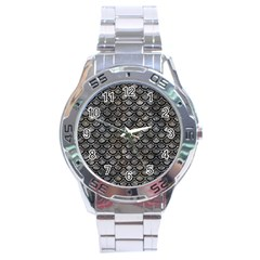 Scales2 Black Marble & Gray Stone (r) Stainless Steel Analogue Watch