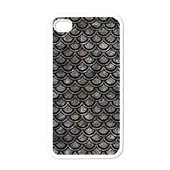 Scales2 Black Marble & Gray Stone (r) Apple Iphone 4 Case (white)