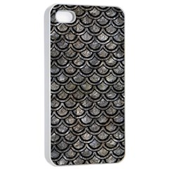 Scales2 Black Marble & Gray Stone (r) Apple Iphone 4/4s Seamless Case (white)