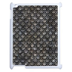 Scales2 Black Marble & Gray Stone (r) Apple Ipad 2 Case (white)