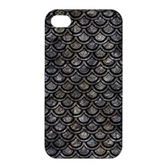 Scales2 Black Marble & Gray Stone (r) Apple Iphone 4/4s Hardshell Case